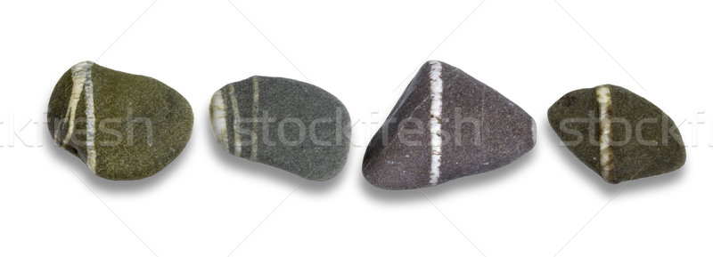 Rząd pasiasty kamienie świetle Zdjęcia stock © prill