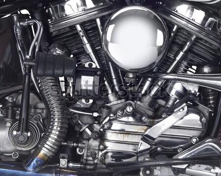 Motor motorbicikli részlet lövés mutat technológia Stock fotó © prill
