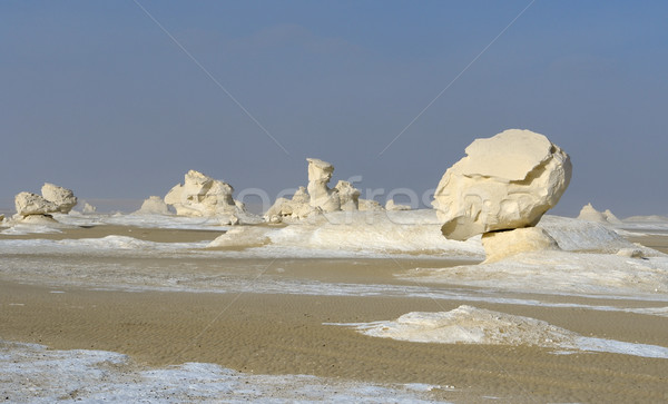 Egypte blanche désert formation rocheuse nature paysage Photo stock © prill