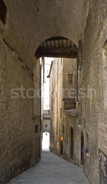 Stok fotoğraf: İtalya · izlenim · şehir · Toskana · ev · sokak