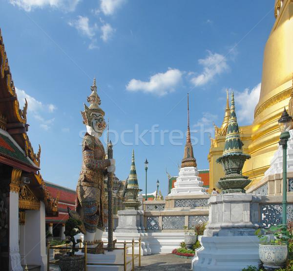 Saray Bangkok Tayland Bina seyahat altın Stok fotoğraf © prill