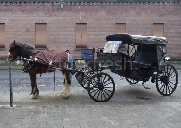 horse-drawn carriage in Dublin Stock photo © prill