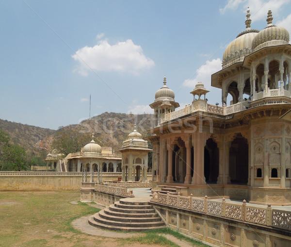 Gaitore Cenotaphs in Jaipur Stock photo © prill
