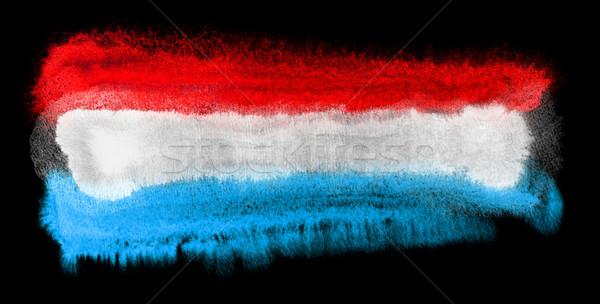 Luxemburg vlag illustratie aquarel achtergrond kunst Stockfoto © prill