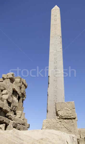 Obelisk around Precinct of Amun-Re Stock photo © prill