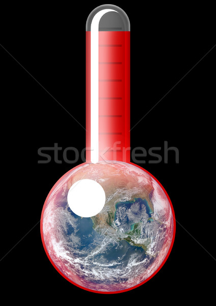 Réchauffement climatique symbolique thermomètre illustration monde Photo stock © prill