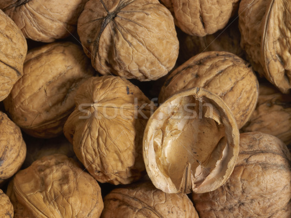 Walnuts and shell Stock photo © prill