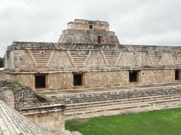 mayan temple in Uxmal Stock photo © prill