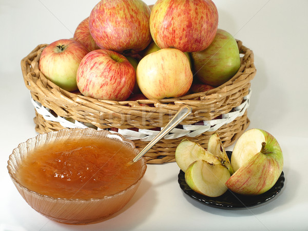 Manzana atasco rústico alimentos frutas cocina Foto stock © Pruser