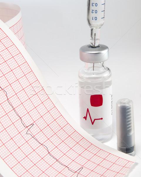 Jeringa frasco papel médicos medicina ciencia Foto stock © Pruser