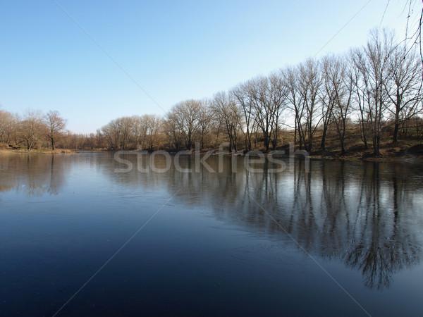 озеро нетронутый углу природы солнце деревья Сток-фото © Pruser