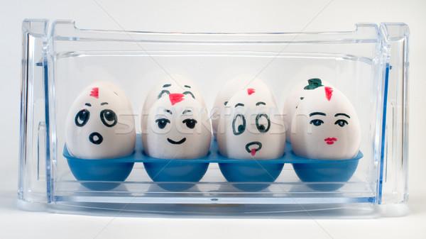 Huevos lácteo esquina pintado lugar huevo Foto stock © Pruser