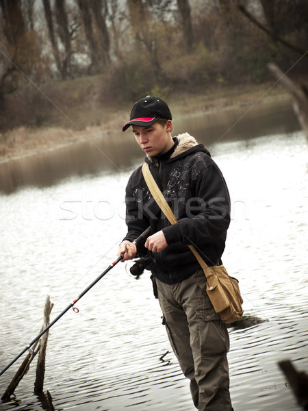 Angler Stock photo © Pruser