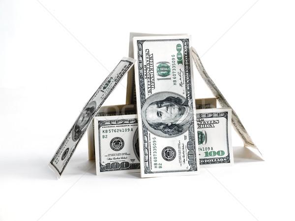 Tienda billetes dólar blanco dinero textura Foto stock © Pruser