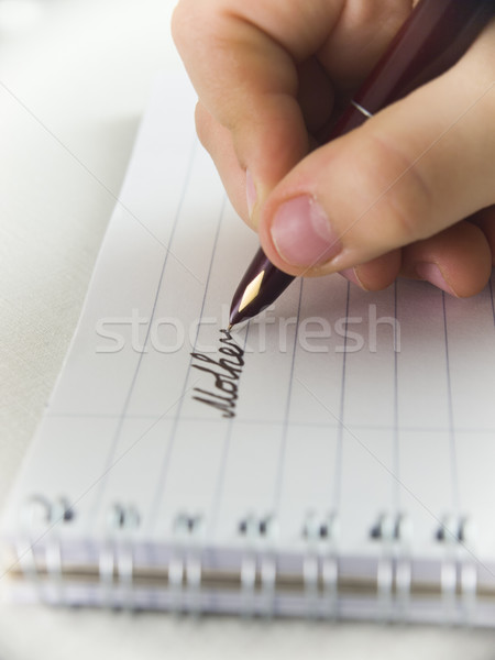 Nuevos hoja escribir madres día mano Foto stock © Pruser