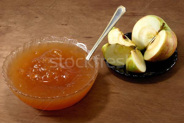 Manzana atasco rústico alimentos frutas Foto stock © Pruser