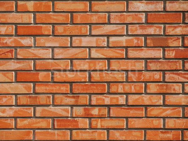 Pared ladrillos rojo pared de ladrillo casa Foto stock © Pruser