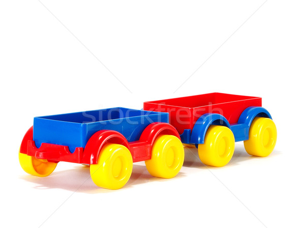 Trailers isolated on white background Stock photo © Pruser