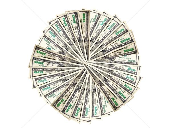 Dinero forma círculo americano blanco textura Foto stock © Pruser