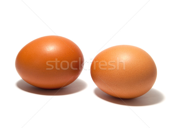 Brown eggs on the white background Stock photo © Pruser