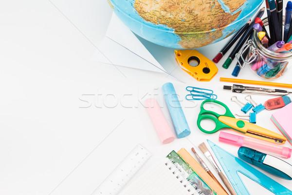 Escolas branco topo ver secretária Foto stock © przemekklos