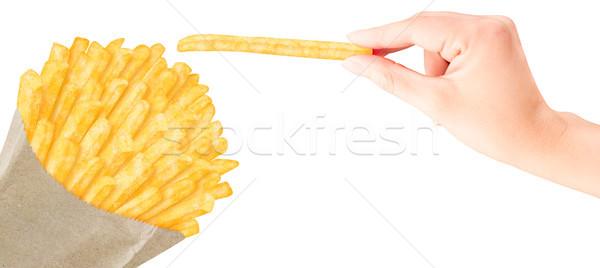 Mão acondicionamento um Foto stock © przemekklos
