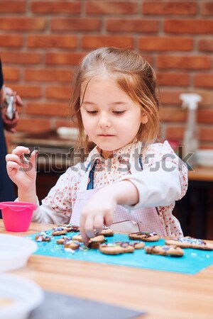 Girl making her first pottery in ceramic workshop Stock photo © przemekklos