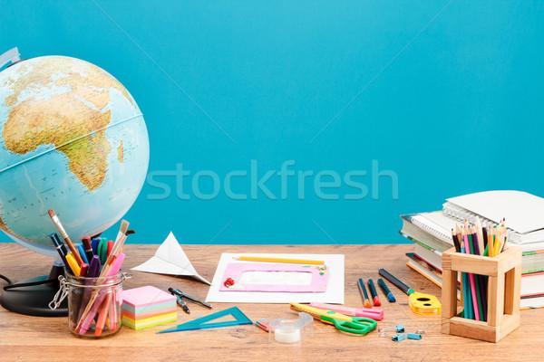 Escolas área de trabalho escritório lápis fundo Foto stock © przemekklos