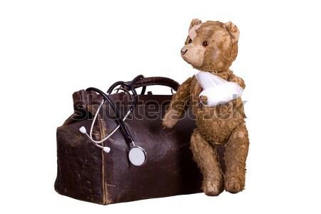 öreg beteg bőrönd orvos gyermek kórház Stock fotó © pterwort