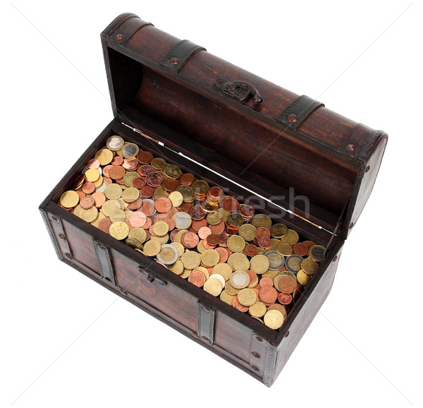 открытых груди деньги металл Финансы золото Сток-фото © pterwort