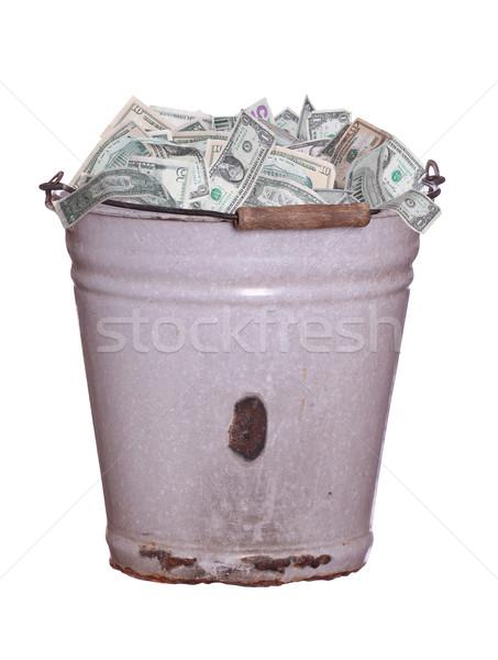 dollars in old rusty bucket Stock photo © pterwort