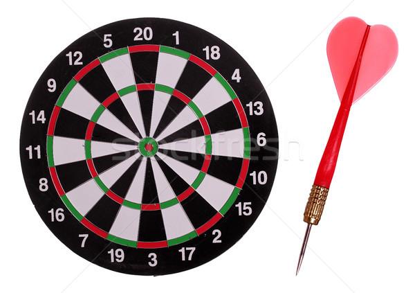 dart board with red arrow Stock photo © pterwort