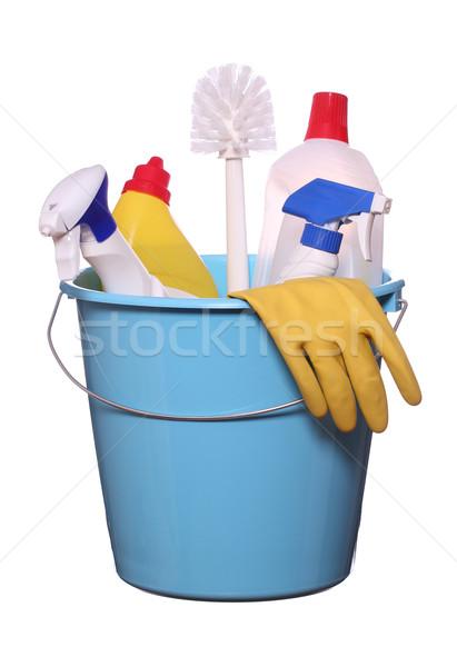 объекты работу домой синий красный очистки Сток-фото © pterwort