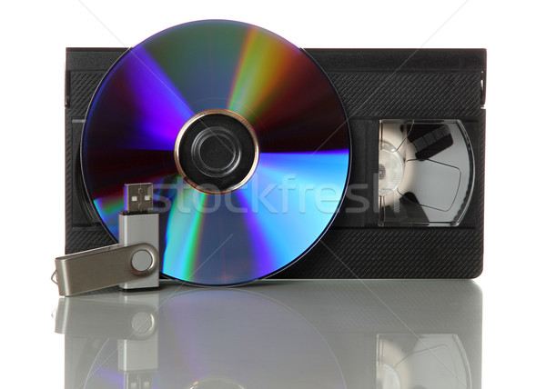 videotape with cd and usb stick Stock photo © pterwort