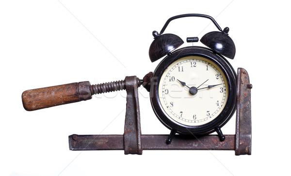 alarm bell under pressure in clamp Stock photo © pterwort