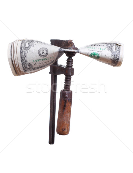 dollars under pressure in old clamp Stock photo © pterwort
