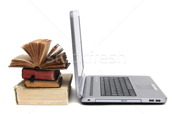 laptop and old book Stock photo © pterwort