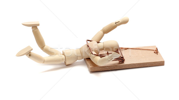 mousetrap captured wooden doll Stock photo © pterwort