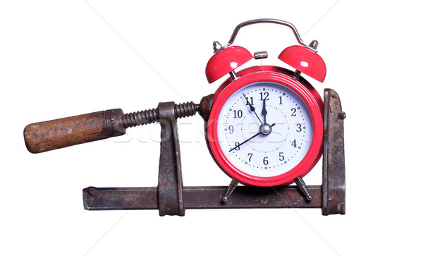 time under pressure with red alarm bell Stock photo © pterwort
