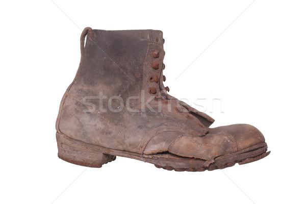 古い みすぼらしい 靴 ファッション 靴 革 ストックフォト © pterwort