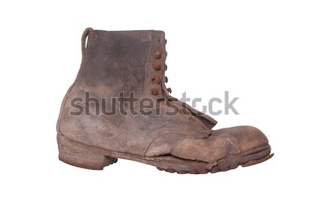 dirty boot with steel shoe sole Stock photo © pterwort