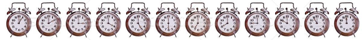 часы металл время стали белый номера Сток-фото © pterwort