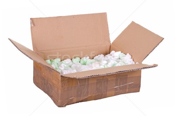 cardboard box with styrofoam Stock photo © pterwort