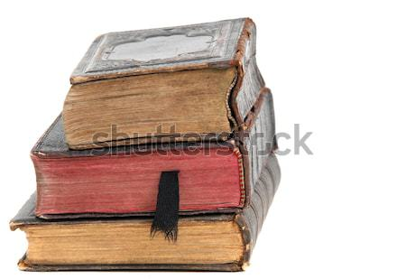 antiquarian brown suitcase with shirts Stock photo © pterwort