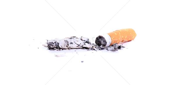 Sigaretta cenere fumo bianco rotto pericolo Foto d'archivio © pterwort