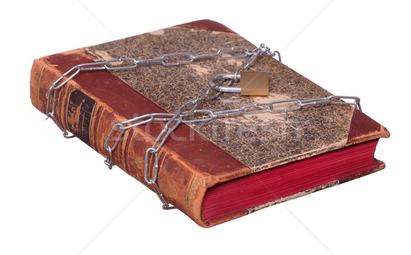 old book protected with chain and padlock Stock photo © pterwort