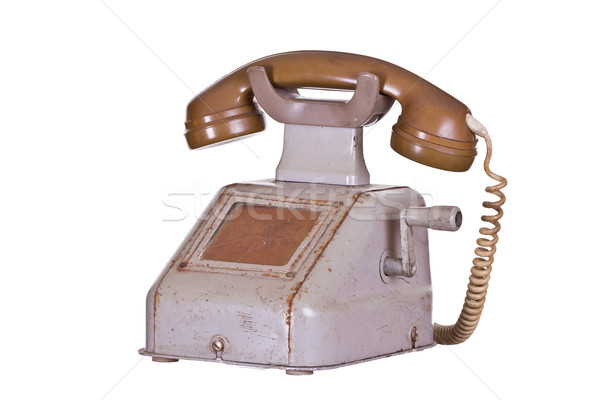 old phone with crank Stock photo © pterwort