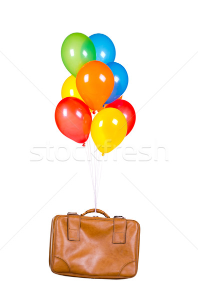 balloons with old suitcase Stock photo © pterwort