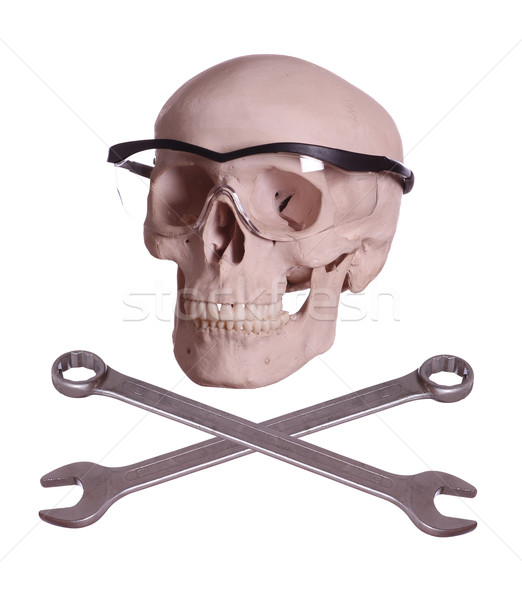 Ossos crânio óculos olhos fundo medicina Foto stock © pterwort