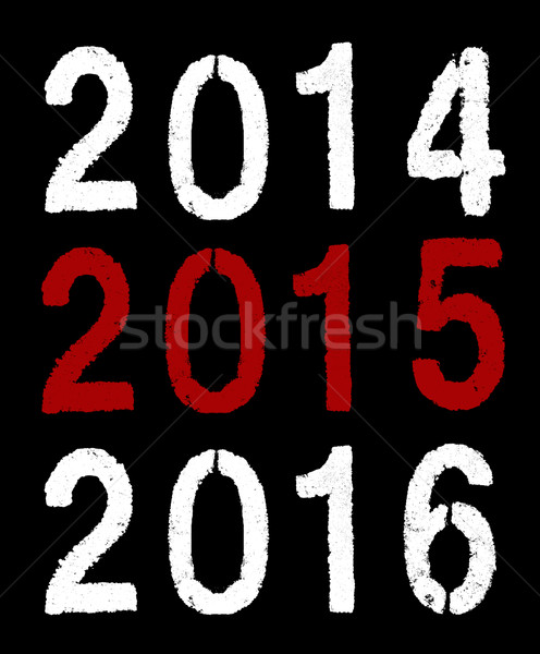 2015 new year on black Stock photo © pterwort
